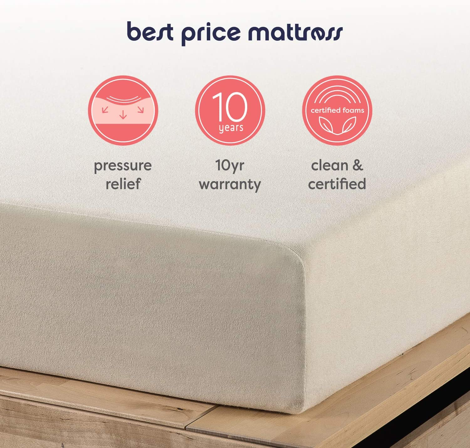Best Price Mattress 6 Inch Memory Foam Mattress, Calming Green Tea Infusion, Pressure Relieving, Bed-in-a-Box, CertiPUR-US Certified, Twin: Furniture & Decor