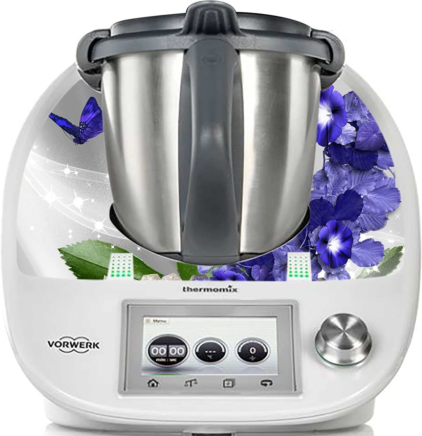Thermodernizate- Vinilos Thermomix TM5 Y TM6 Mariposas y Violetas: Amazon.es
