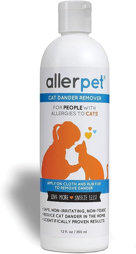 Allerpet - Quitamanchas para Gatos, solución de Alivio de alergias, 325 ml: Amazon.es: Productos para mascotas