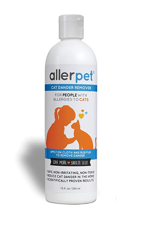 Allerpet - Quitamanchas para Gatos, solución de Alivio de alergias, 325 ml