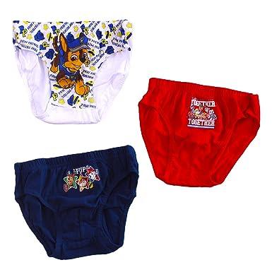 Boys Paw Patrol Briefs Pants Age 2-8 Years Pack of 3