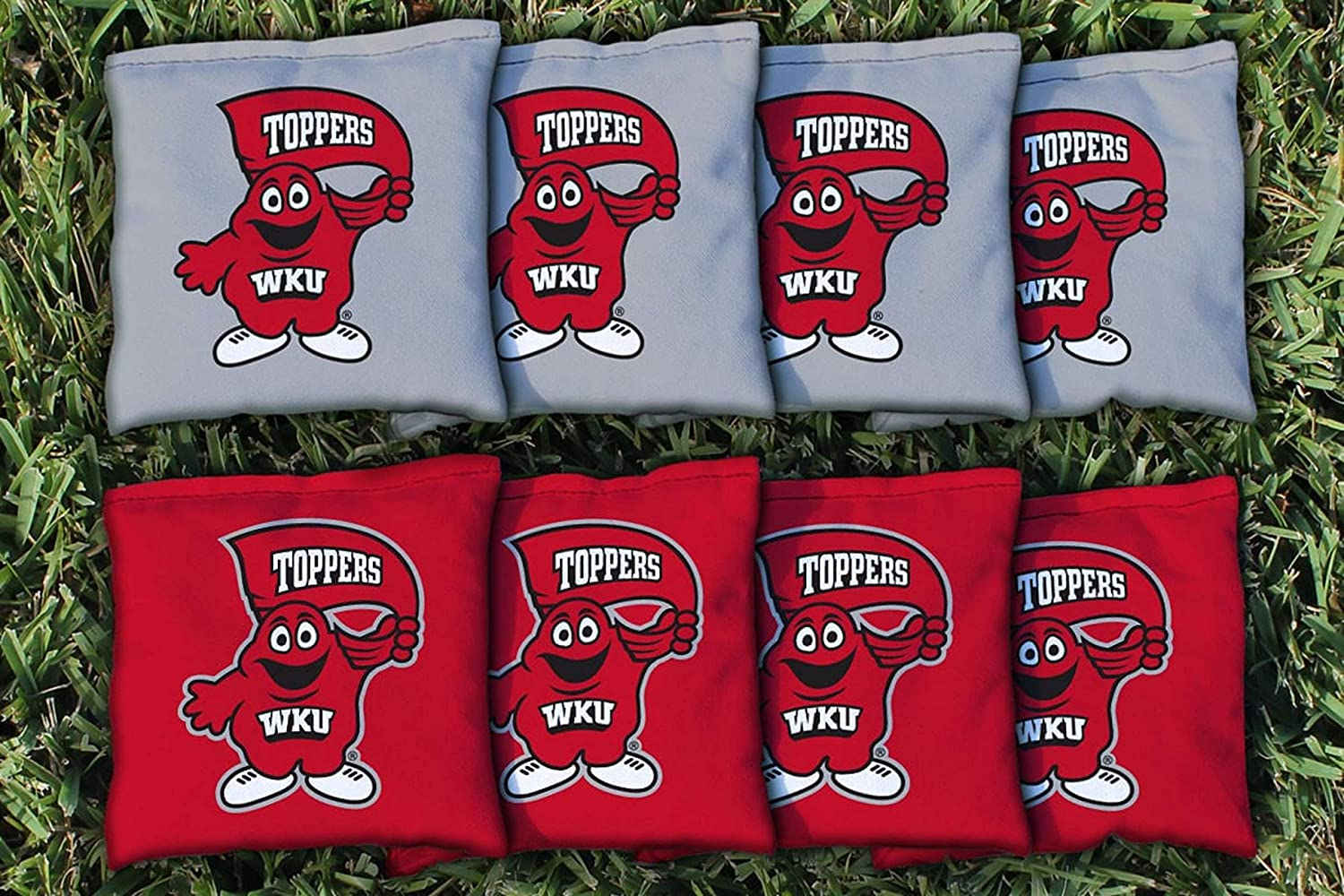 8 Bags Included, Corn-Filled Victory Tailgate NCAA Regulation Cornhole Game Bag Set