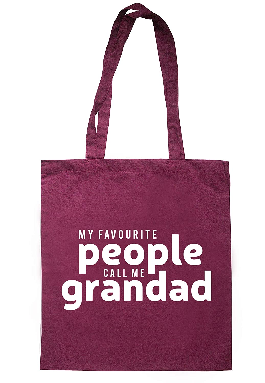 illustratedidentity My Favourite People Call Me Grandad Tote Bag 37.5cm x 42cm with long handles TB1651-TB-NV
