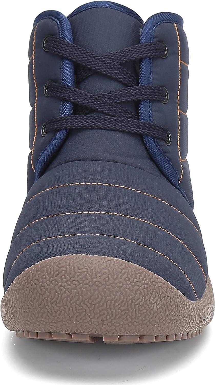 SAGUARO® Uomo Donna Stivali Invernali Outdoor Caldo Scarpe Piatto Caviglia Stivaletti Botas Laccio Blue
