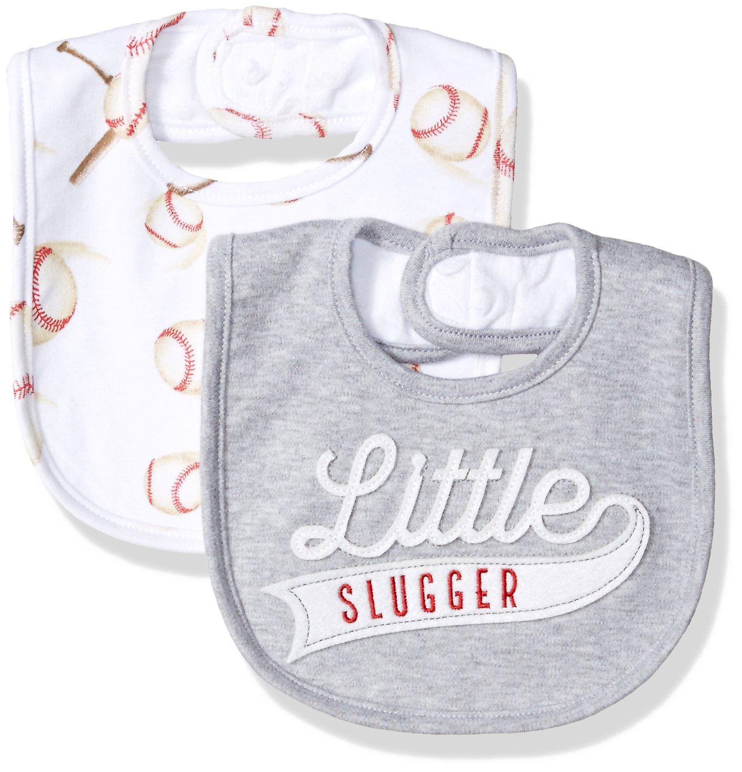 Mud Pie Baby Boys' Applique Bib, Baseball One Size