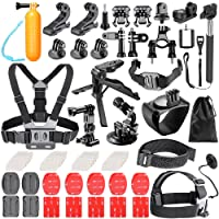 Neewer 62-EN-1 Kit d'accessoires pour GoPro Hero 6 5 4 3+ 3 2 1 Hero Session 5 Black AKASO EK7000 Apeman SJ4000 5000 6000 DBPOWER AKASO VicTsing WiMiUS Rollei QUMOX Lightdow Campark