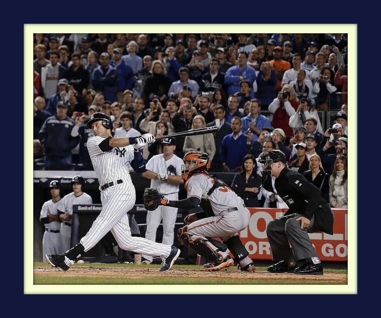 Derek Jeter Final Game Winning Hit At Yankee Stadium 11x14 Double Matted 8x10 Photo Swinging Last Hit At Bat Treasure Chest Shoppe