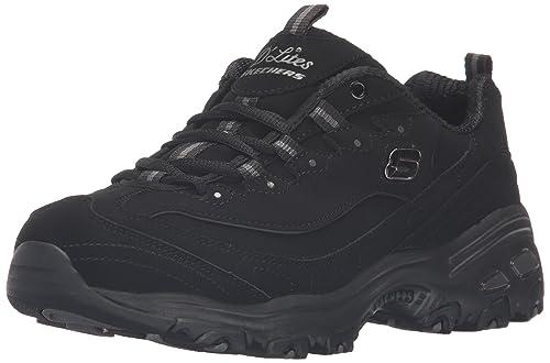 c69b71a9a791 Skechers Women s D Lites-Biggest Fan Low-Top Sneakers Black  Amazon ...
