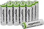 AmazonBasics - Juego de 16 pilas recargables AA Ni-MH - La cubierta exterior puede variar