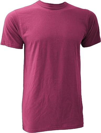 Anvil - Camiseta básica fashión orgánica de Manga Corta para Hombre- 100% Algodón orgánico Certificado (Pequeña (S)) (Frambuesa): Amazon.es: Ropa y accesorios