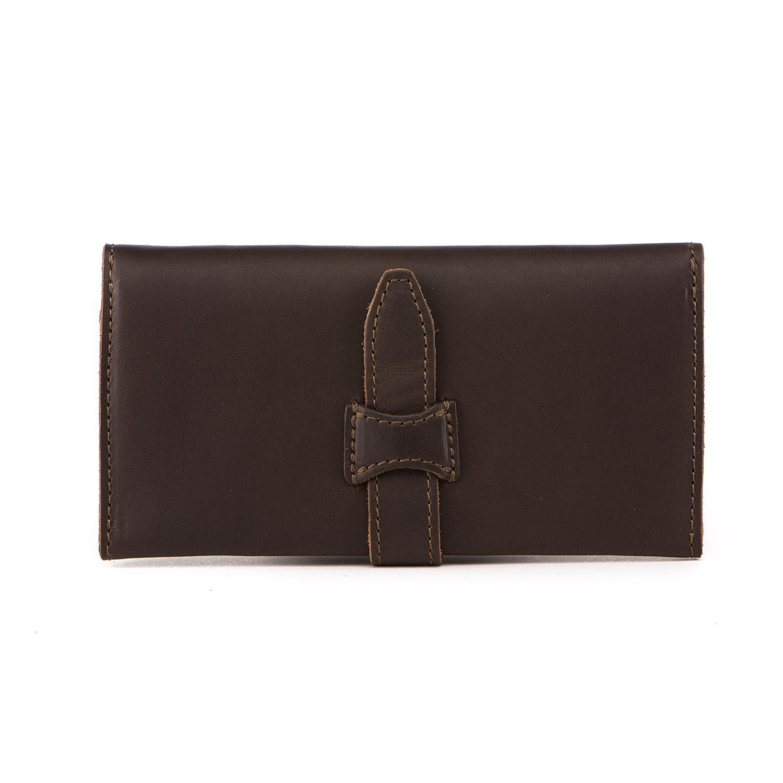 0ffae5278dd2a Saddleback Leather Long Trifold Wallet in Dark Coffee Brown  Full Grain  Leather with 100 Year Warranty  Amazon.ca  Luggage   Bags