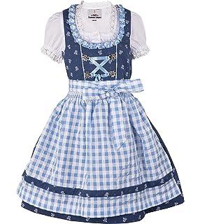 rot  100/% BW 4-teilig Top Qualität NEU Babydirndl Kinderdirndl dunkelblau