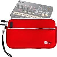 DURAGADGET Housse en néoprène Rouge pour KORG Volca Beats/Bass/Keys/Sample/Sample OK GO/FM/Kick/Modular/Drum/Mix Boîte à rythmes - résistant à l'eau
