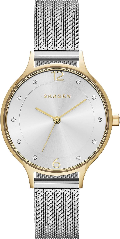 Skagen Anita - Reloj de cuarzo para mujer con malla de acero inoxidable