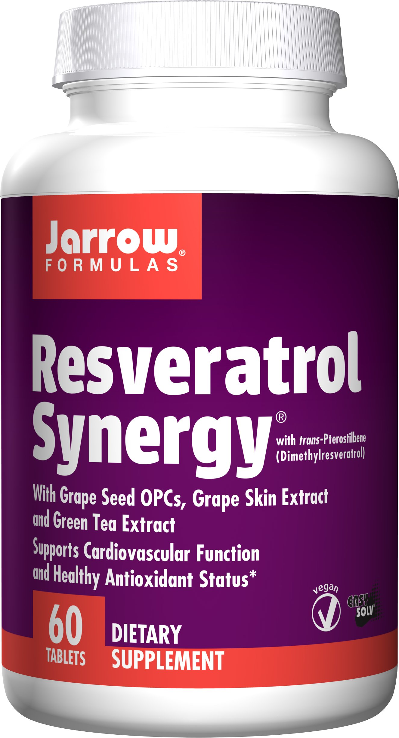 Jarrow Formulas Resveratrol Synergy, 60 Tablets by Jarrow Formulas