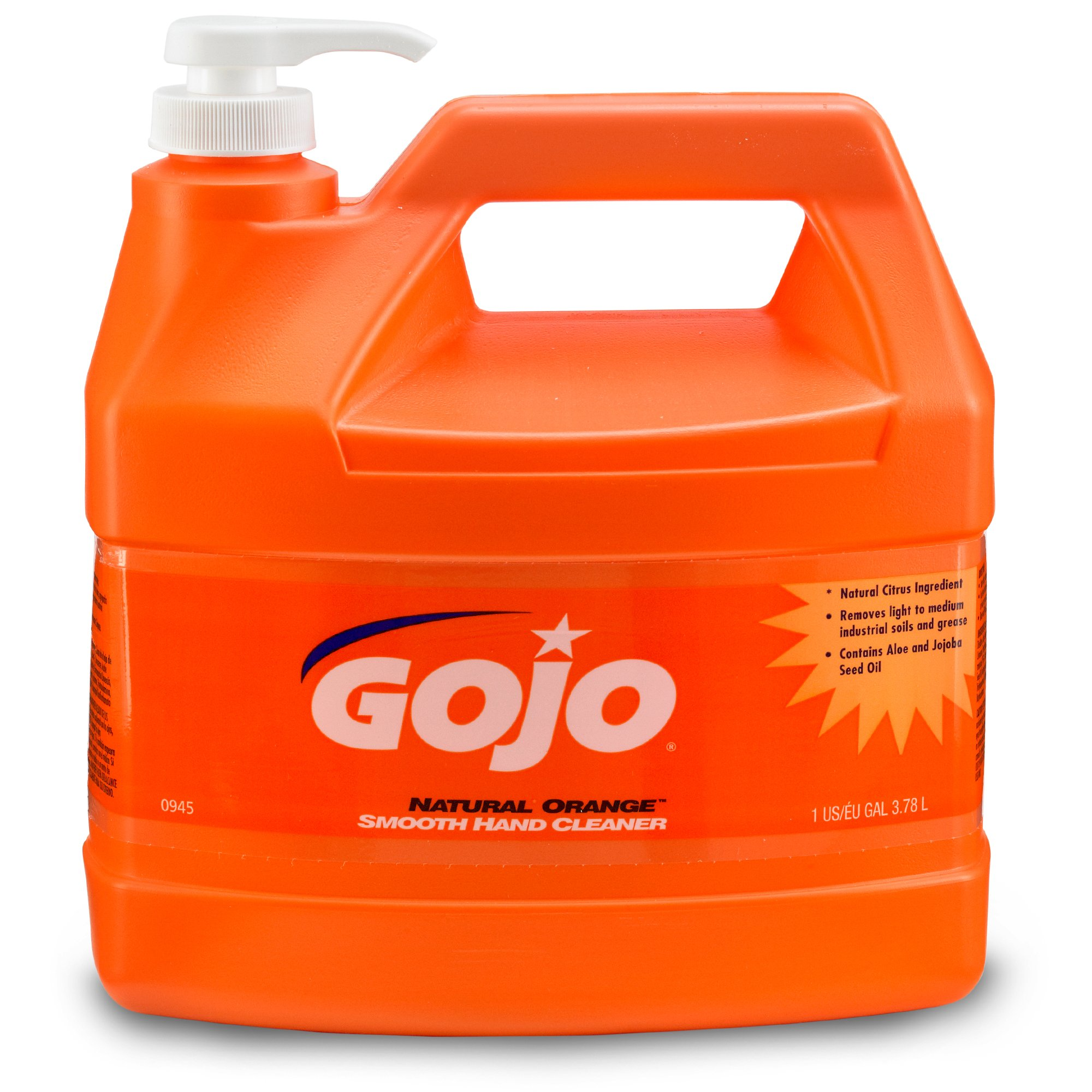 GOJO 0945-04 1-Gallon Natural Orange Smooth Hand Cleaner (4 per Case)