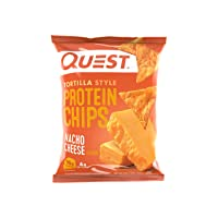 Quest Nutrition Tortilla Style Protein Chips, Nacho Cheese, Low Carb, Gluten Free...