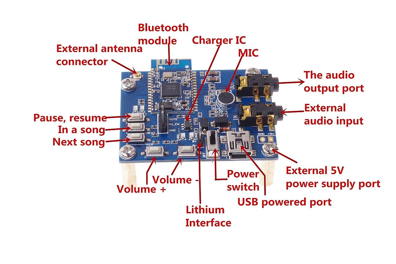 Bluetooth Speaker Circuit Diagram - House Wiring Diagram Symbols •