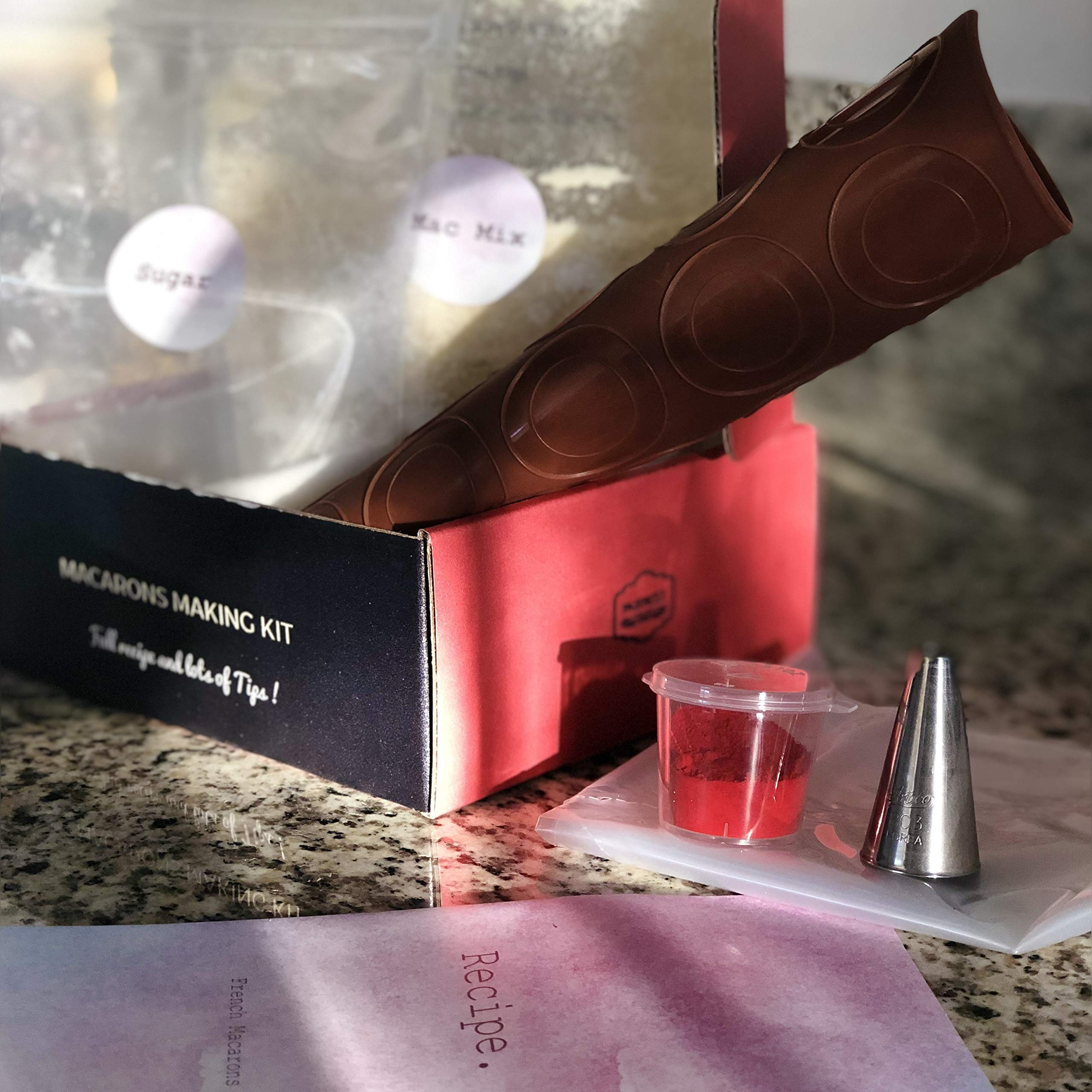 Red Velvet Macaron DIY Making Kit - by French Chefs from Paris - Including Tools and Recipe Tips - Make Macaroons easily at Home
