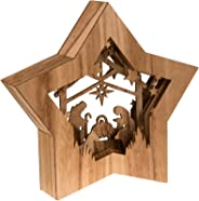 Star Shaped Nativity by Clever Creations | Collectible Religious Christmas Scene | Festive Holiday Décor | LED Backlight Lay
