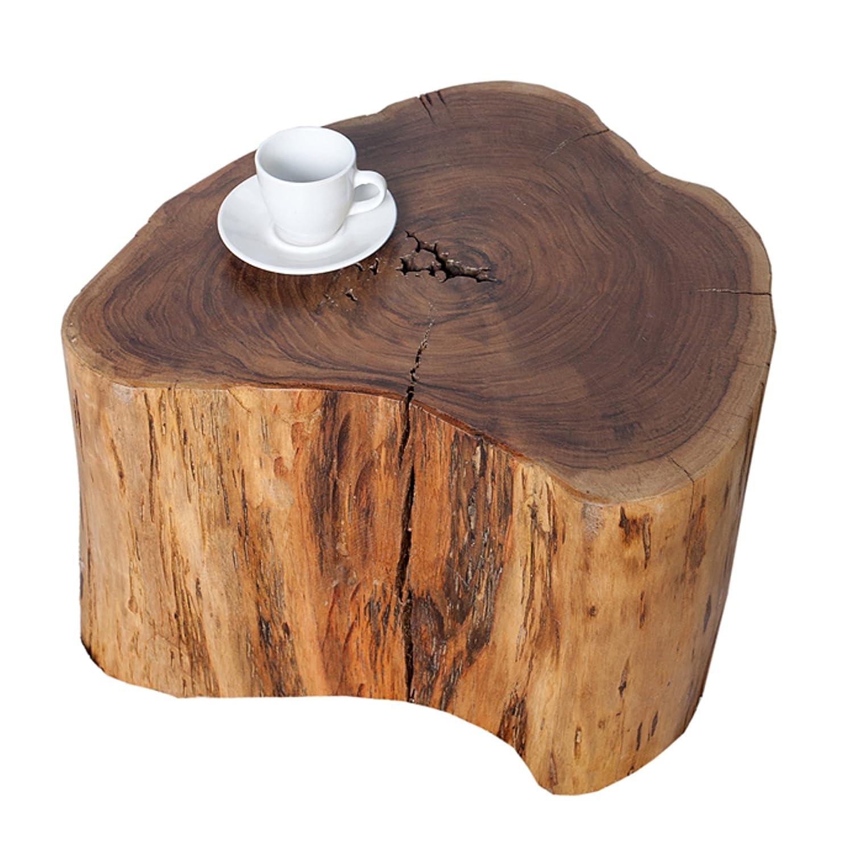 Invicta Interior Massiver Hocker GOA Baumstamm Beistelltisch aus Akazie 30 cm Sitzhocker Tisch