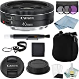 Canon EF 40mm f/2.8 STM Lens + Canon EF 40mm Lens Advanced Accessory Kit - Canon Lens Bundle Includes EVERYTHING You Need to Get Started