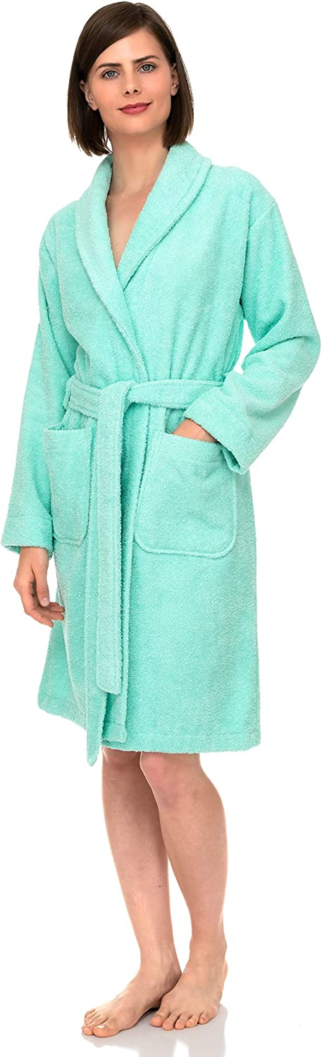 TowelSelections Women's Robe, Turkish Cotton Short Terry Bathrobe Made in Turkey