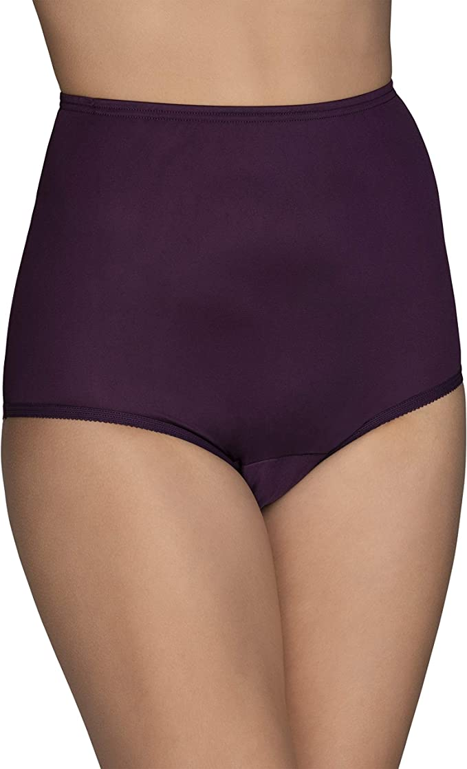 Vanity Fair Smoothing Comfort Slipshort with Lace 12290 Damask Neutral 6//M