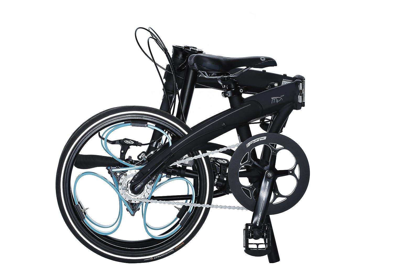 Bicicleta plegable DAHON con loopwheels MU original ajustado golpes loopwheels con Hub de 3 velocidades marchas - negro/azul: Amazon.es: Deportes y aire ...