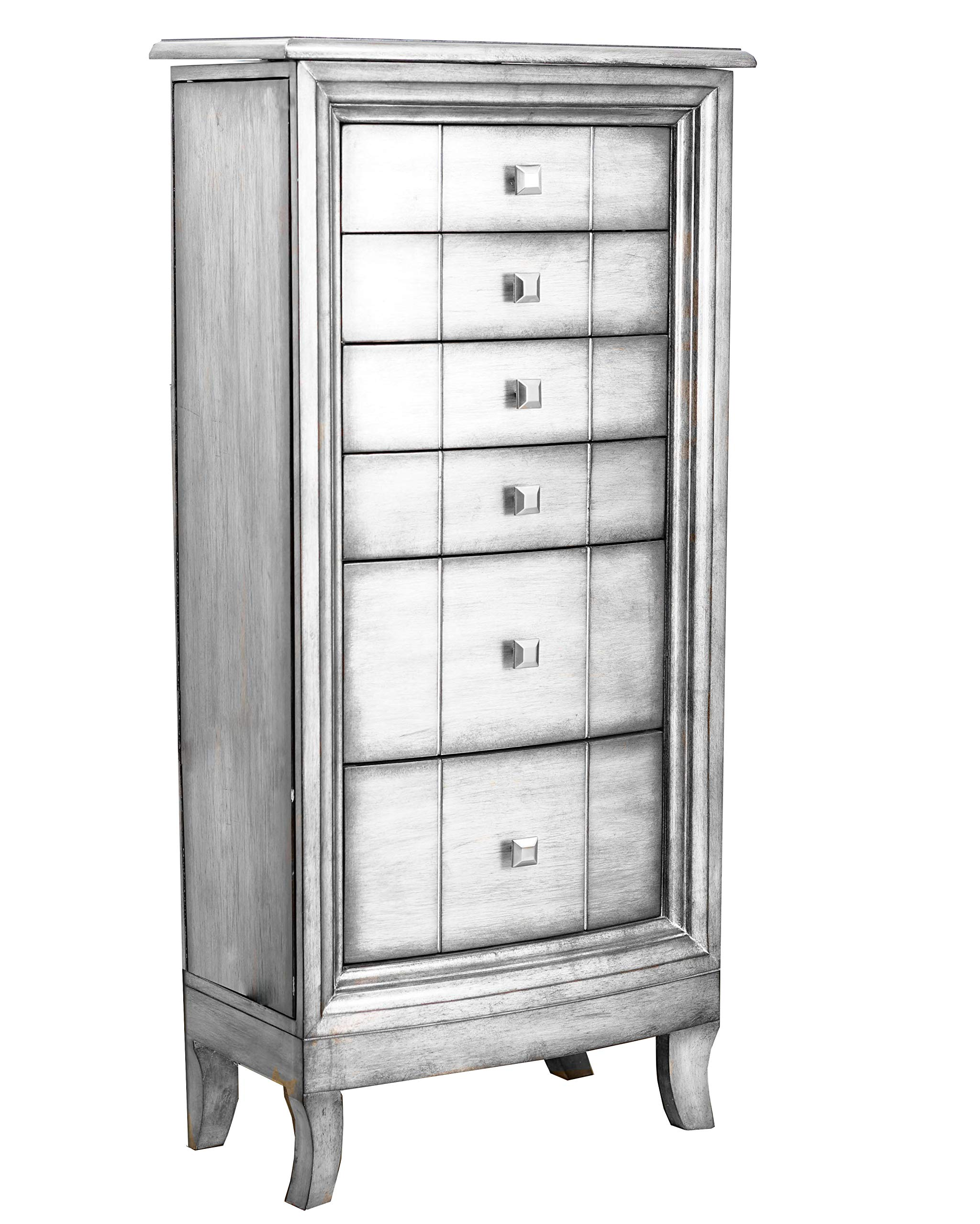 Hives and Honey 'Sasha' Jewelry Armoire, Silver