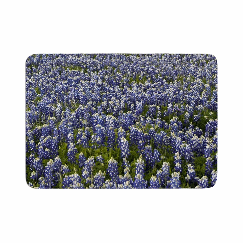 Kess InHouse Susan Sanders Flower Fields Purple Lavender Photography Memory Foam Bath Mat 17 x 24