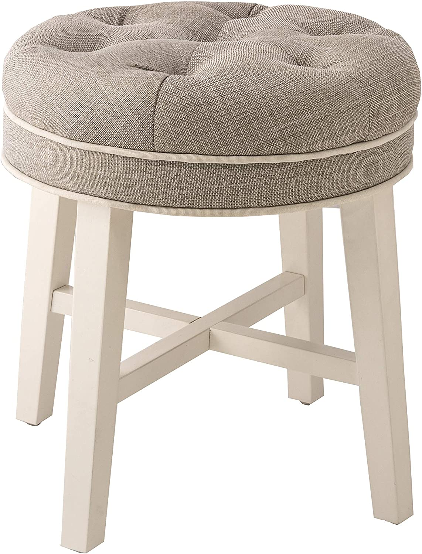 Amazon Com Hillsdale Furniture Sophia Vanity Stool Linen Gray Furniture Decor