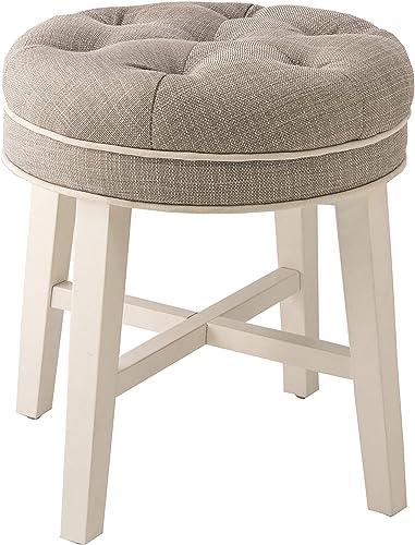 Hillsdale Furniture Sophia Vanity Stool, Linen Gray