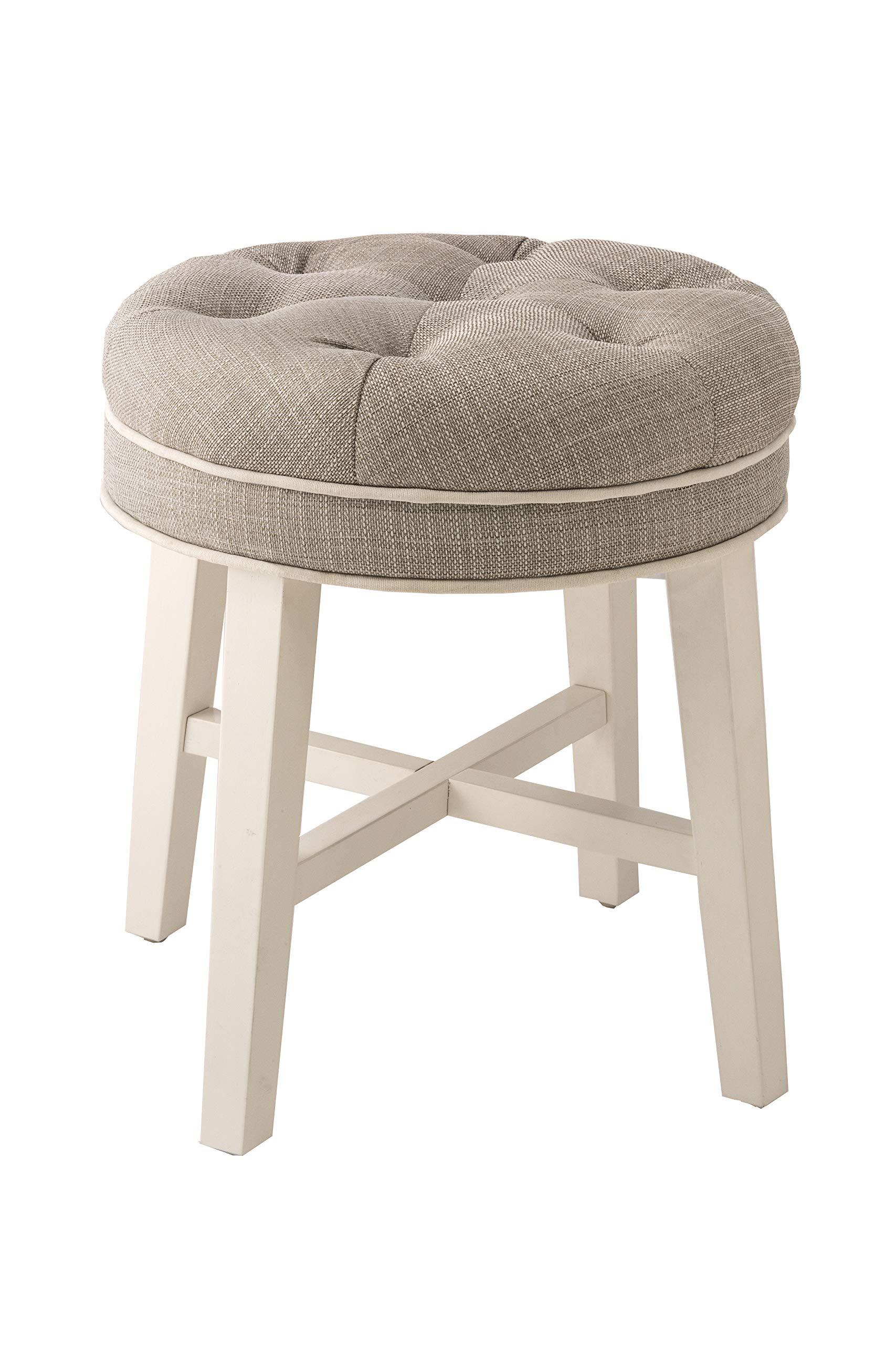 Hillsdale Furniture 51007 Sophia Vanity Stool, Linen Gray by Hillsdale Furniture