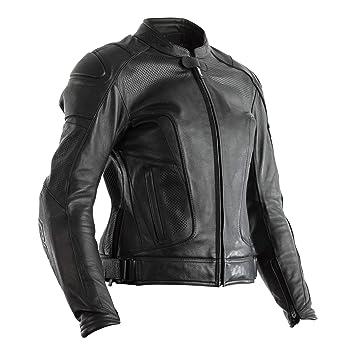 RST Chaqueta de Moto de Cuero Negra para Mujer GT CE Tamano ...