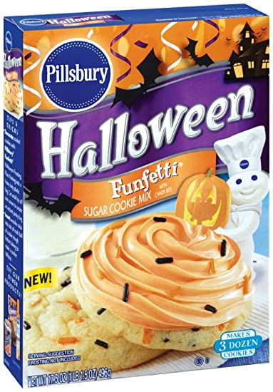 pillsbury halloween funfetti sugar cookie mix with candy bits 175 oz