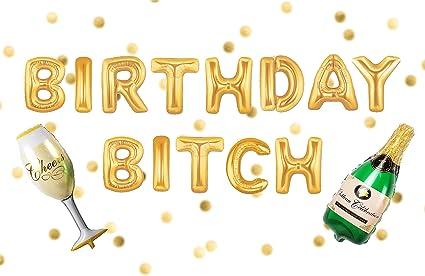 Visual Balloons Birthday Bitch