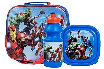 Niños niñas niños Character bolsa para el almuerzo + fiambrera + botella de deporte Set escuela