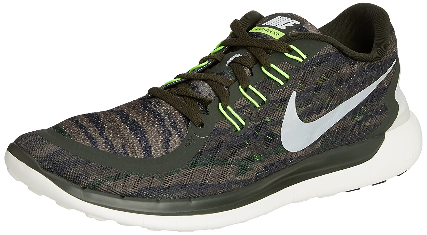online store 1ddf8 9e774 Nike Free 5.0 Print, Men s Training Running Shoes, Multicolor  (Sequoia Turbo Green Crystal Green Summit White 301), 9 UK (44 EU)   Amazon.co.uk  Shoes   Bags