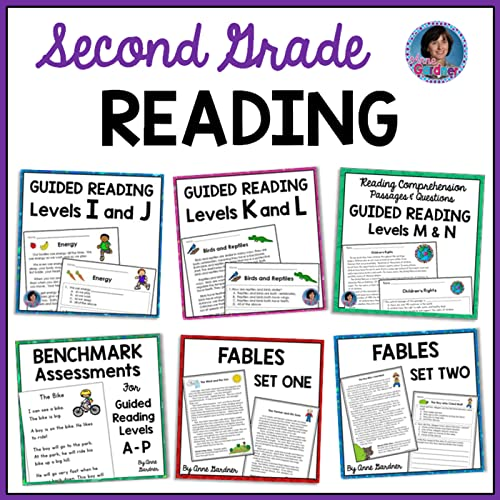 Second Grade Reading Comprehension Passages And Questions For Guided Reading  Levels I Through N
