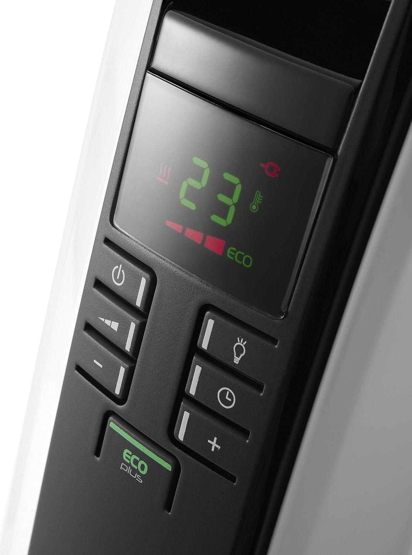 DeLonghi TRD4 0820E calentador de ambiente - Calefactor (49.5 cm, 16 cm, 66.5 cm, LCD) Negro, Color blanco: Amazon.es: Bricolaje y herramientas