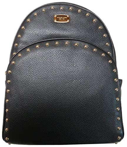 8f543634e32e ... good michael kors abbey large studded leatherl backpack black 7991b  eb2ac