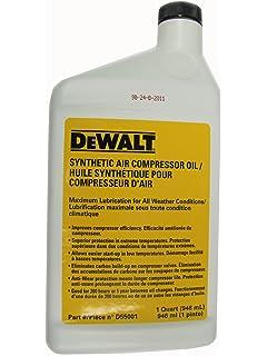 DEWALT D55001 Synthetic Compressor Oil, 1 Quart