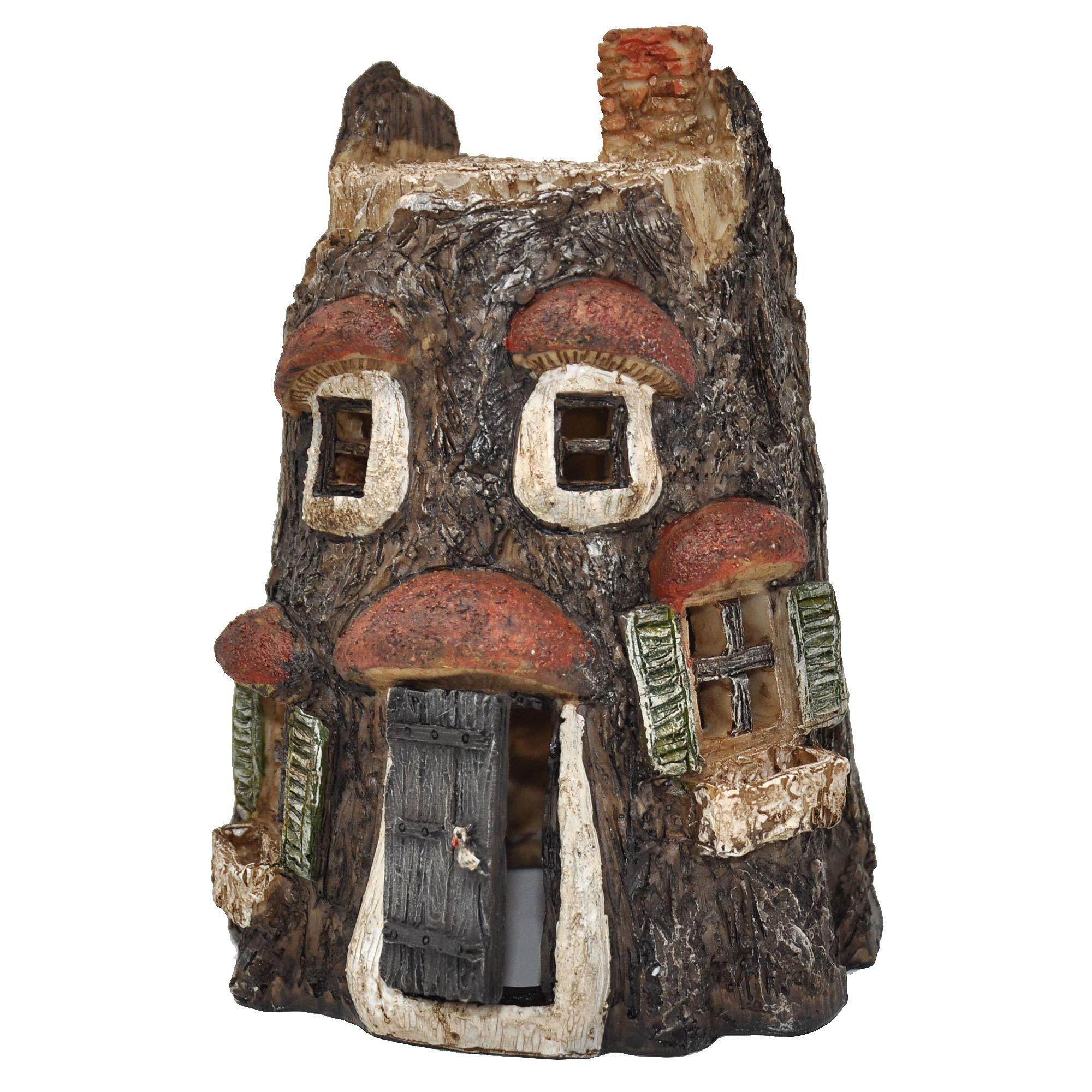 Owl Fairy House for Miniature Garden, Fairy Garden