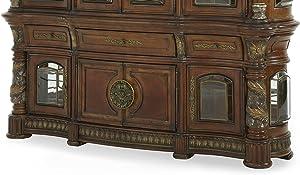 Michael Amini Villa Valencia Buffet Cabinet, Classic Chestnut
