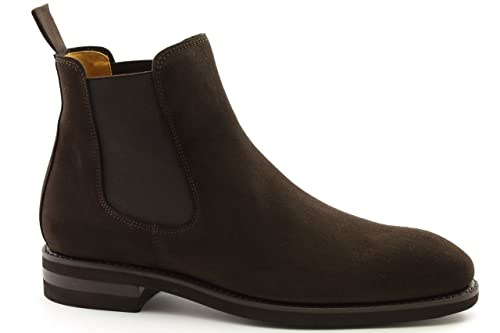 Berwick 1707 - Botines Chelsea Hombre, Color Marrón, Talla 42.5 EU: Amazon.es: Zapatos y complementos