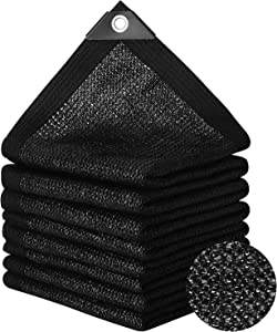 ANGTUO 90% 6.5ft x 13ft Garden Sunblock Shade Cloth Edge Tape with Grommets Premium UV Resistant Sunshade Netting Privacy Screen Greenhouse Covers Mesh Tarp Canopy Fabric for Pergola Swimming Pool