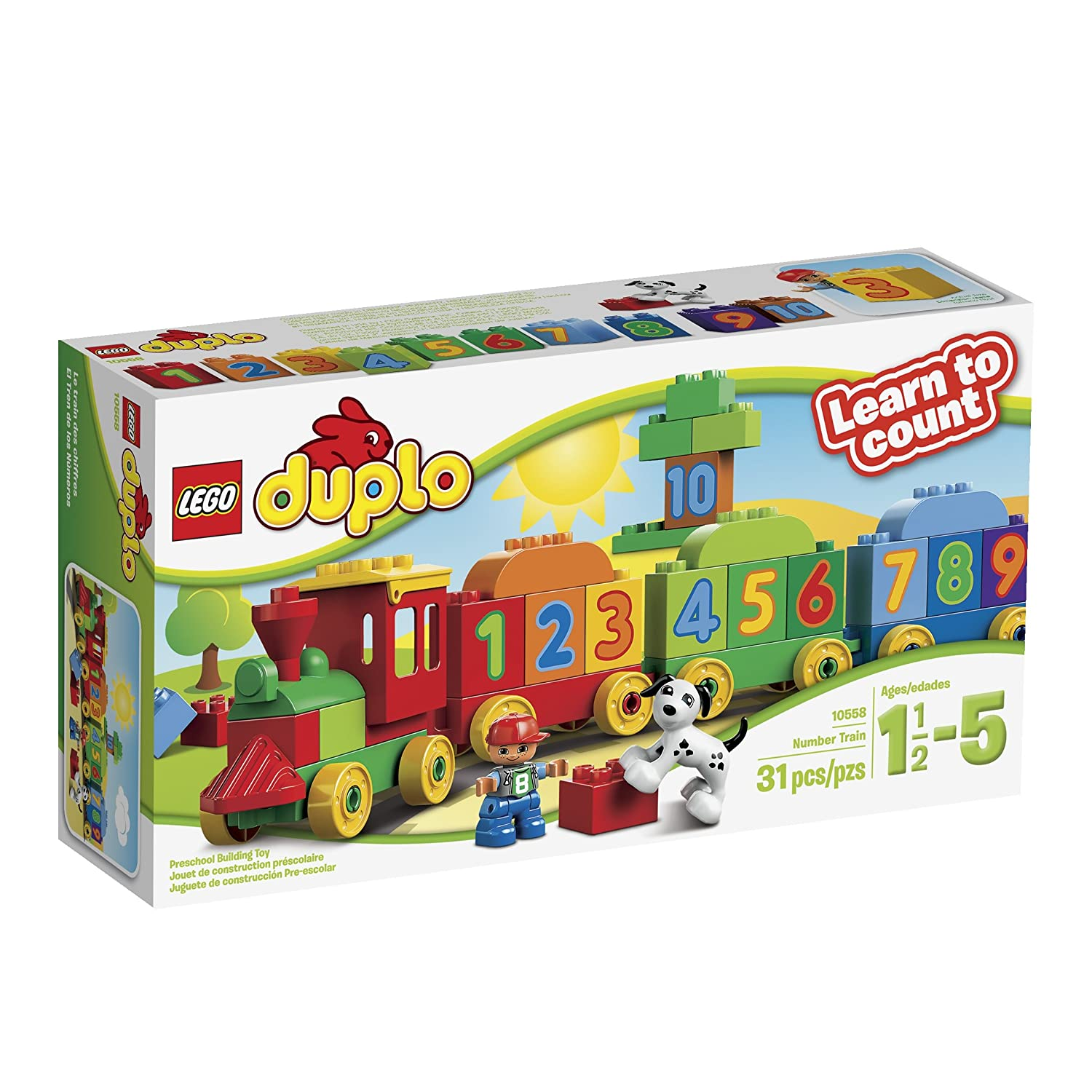 LEGO DUPLO My First Number Train 10847 Preschool Toy 6174760