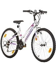 Multibrand, PROBIKE ADVENTURE, 24 pollici, 290mm, Mountain Bike, 18 velocità, Set parafango, Per donne, Bambini, Junior, Bianco (White)