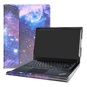"""Alapmk Diseñado Especialmente La Funda Protectora de Cuero de PU Para 14"""" Lenovo ThinkPad T480s"""